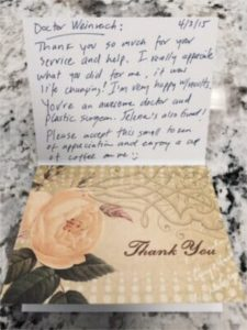 breast reduction testimonial letter
