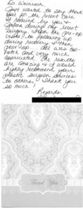 breast revision thank you letter