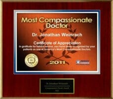 Dr. Weinrach's Most Compassionate Doctor Award 2011