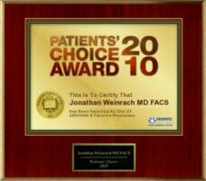 Dr. Weinrach's Patients' Choice Award 2010