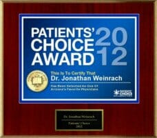 Dr. Weinrach's Patients' Choice Award 2012