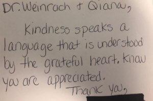 kindness testimonial